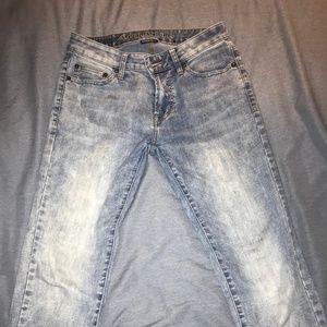 American Eagle White Wash Slim Cut Jeans, 30x32